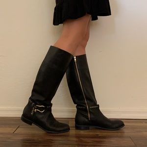 Sperry Brand Genuine Black Leather Tall Boots 8.5